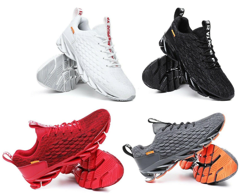 men sport breathable fashion knit blade shoes