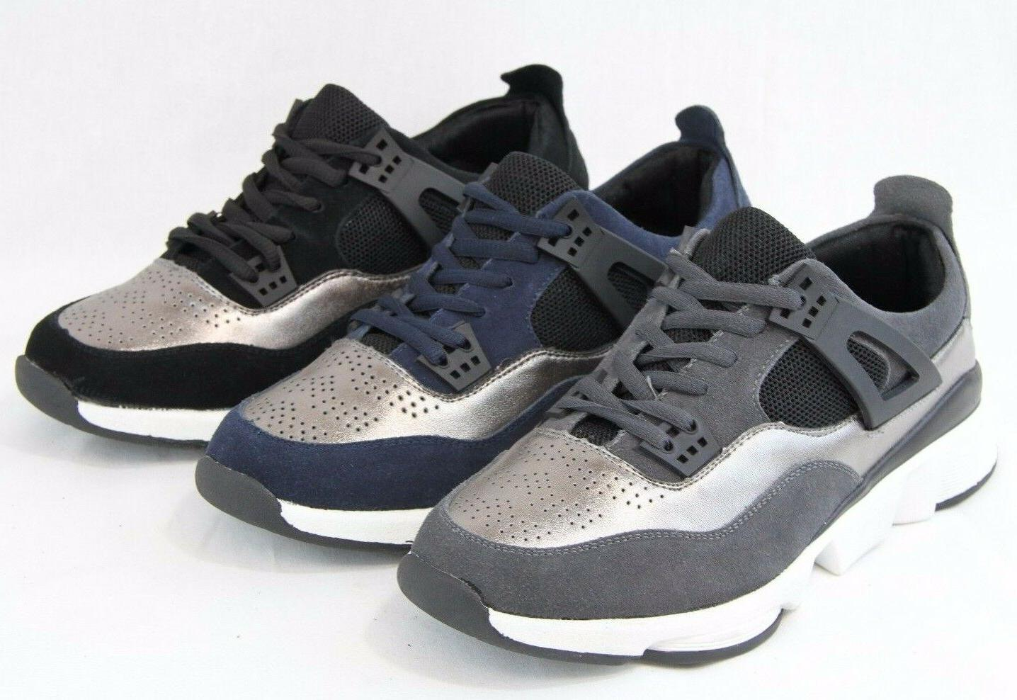 Men Suede Leather Retro Tennis Sneakers Walking Fashion Shoe