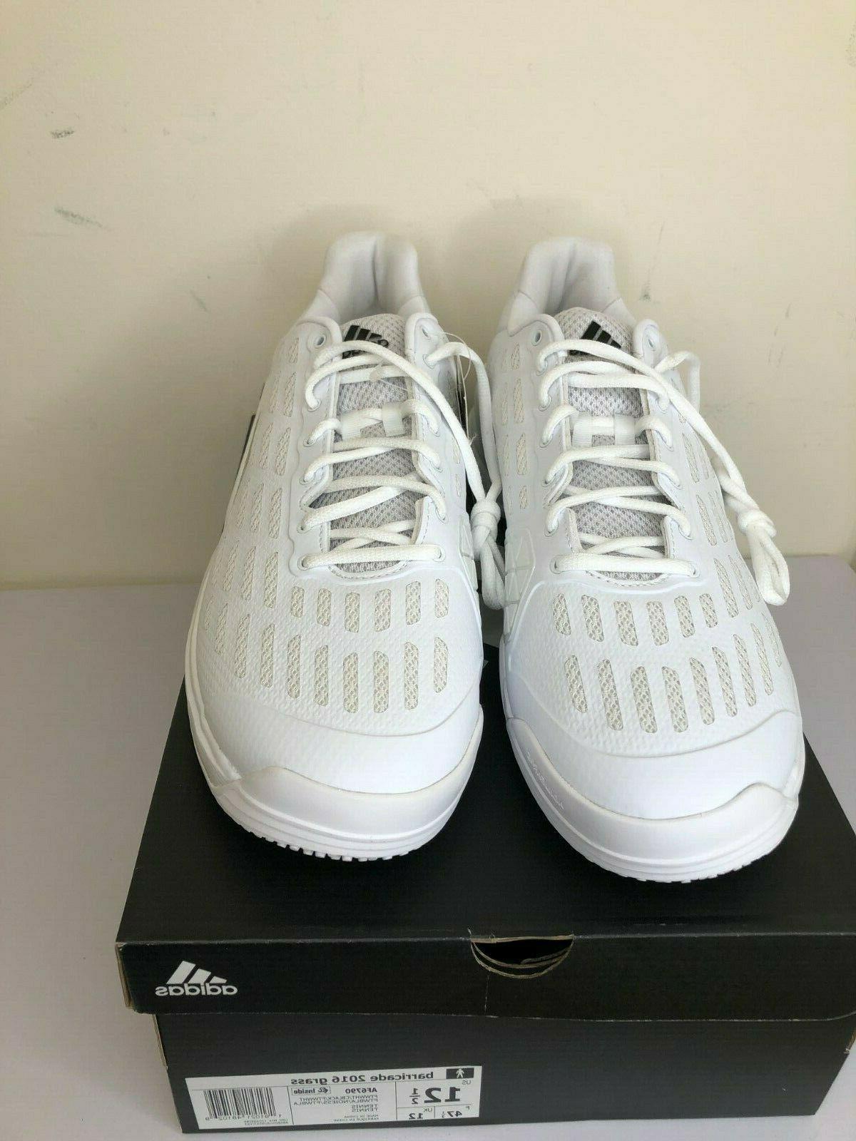 Mens Grass Tennis Shoes Size 12.5 White Black