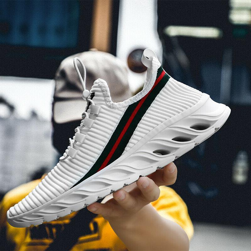 mens breathable running shoes fashion gym tennis