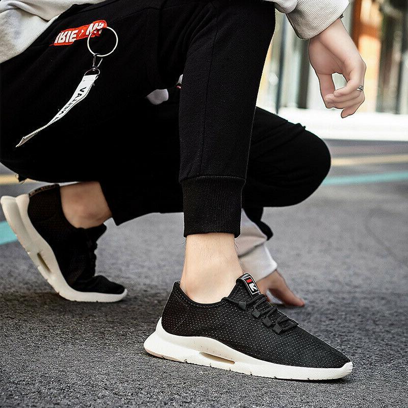 Mens Running Walking Breathable Gym Sneakers US