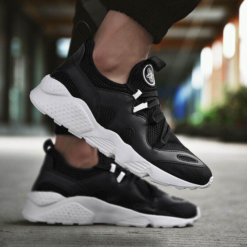 Mens Sneakers Ultralight Athletic Running Gym