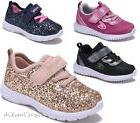 New Baby Toddler Girls Sequin Glitter Strap Tennis Sneakers