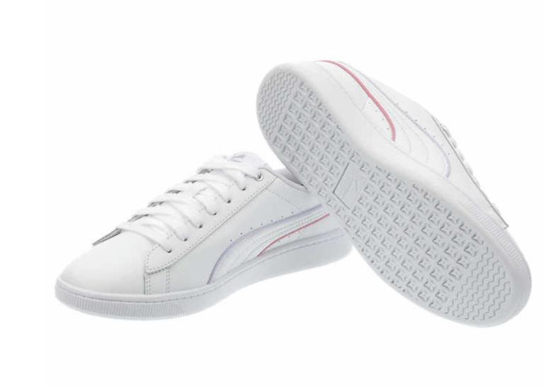 NEW IN Vikki White Leather Tennis Gym Sneakers PICK