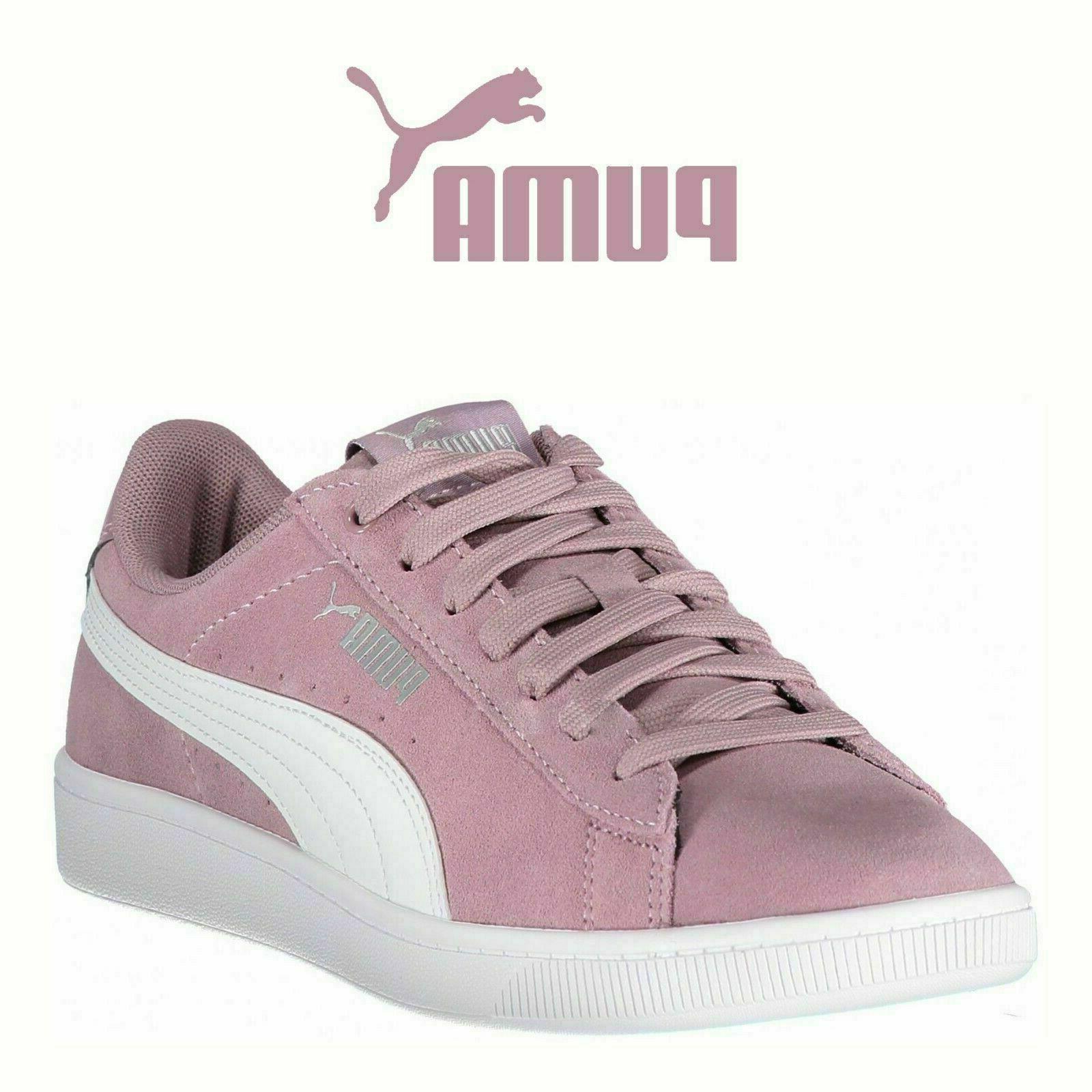 *NEW* PUMA Vikky Suede Shoes Elderberry PurPle Pink Softfoam