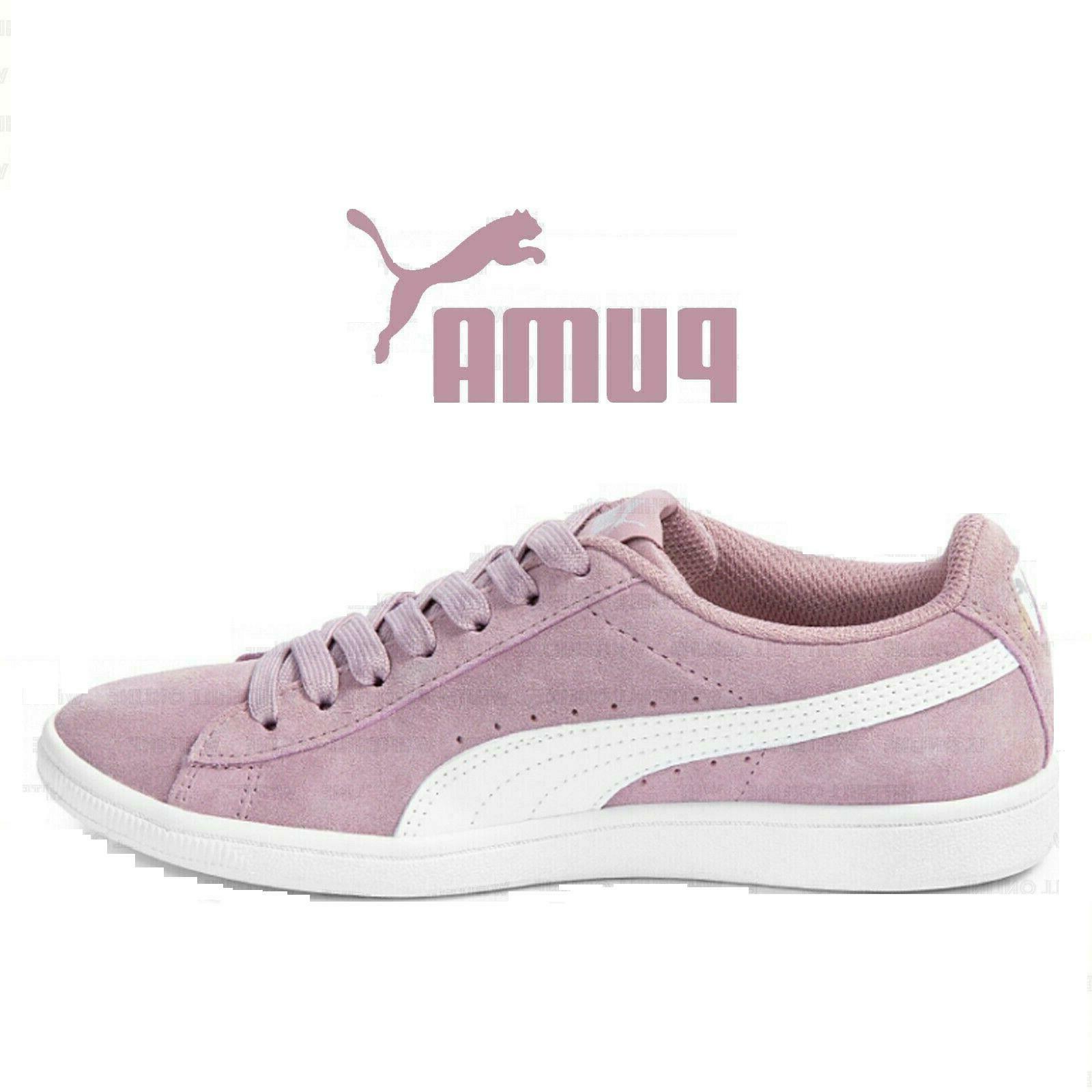 *NEW* PUMA Ladies' Suede Pink Softfoam Court Low