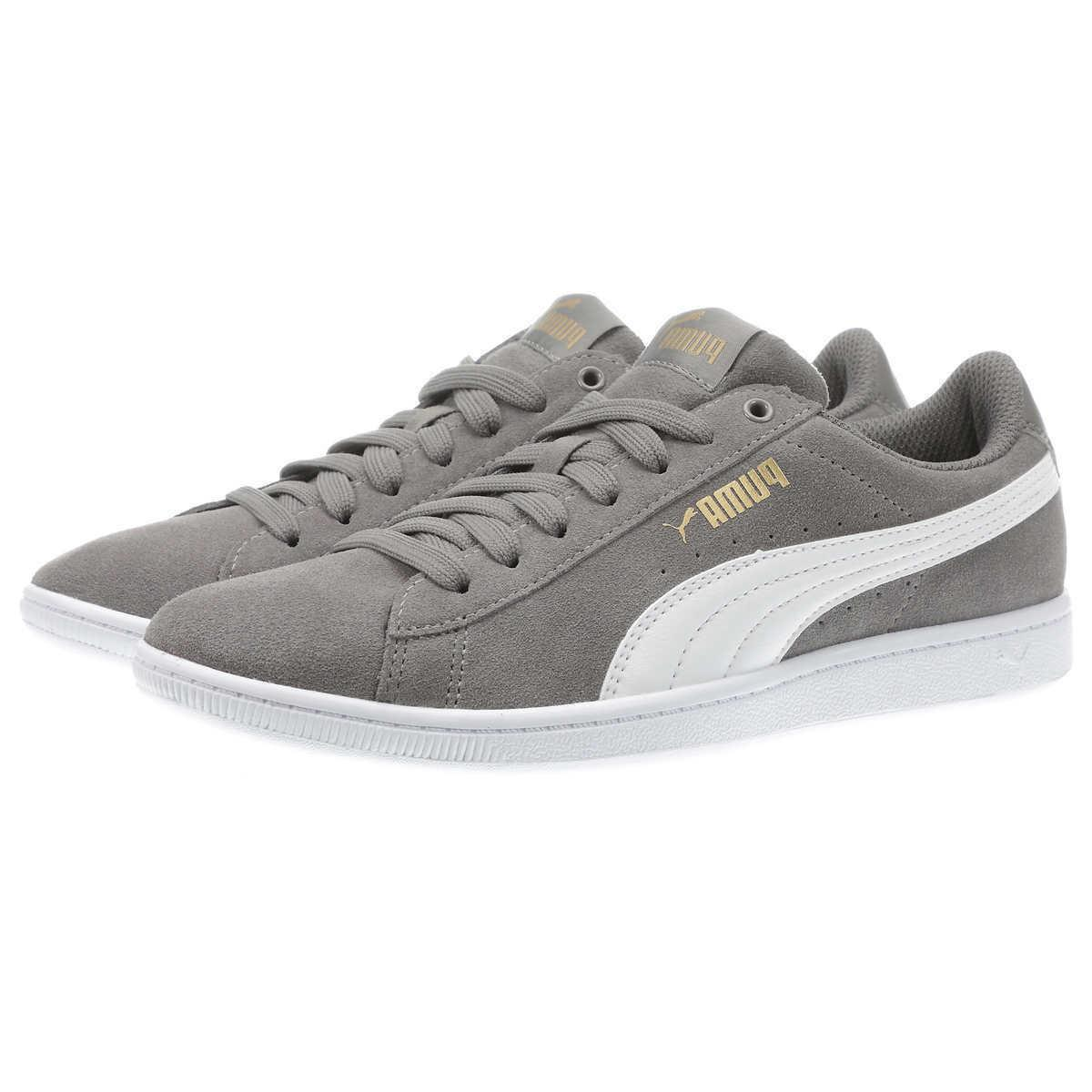 *NEW* Ladies' Suede Gray Softfoam Court Low-Top