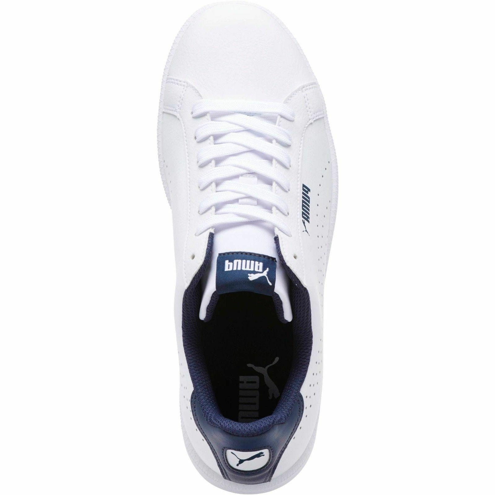 *NEW* Perf C White Leather Sneakers Tennis Shoe