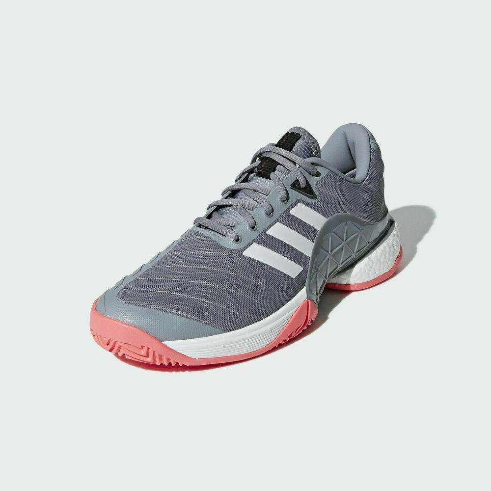 NEW Men's Adidas Boost AH2094 Grey/White/Pink Shoes Size 13
