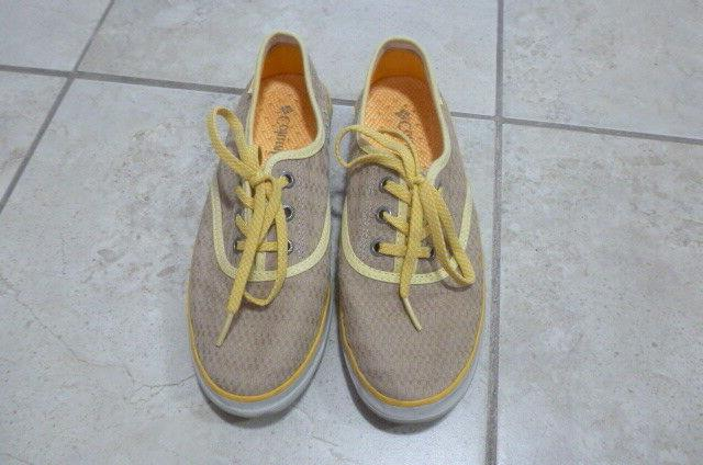 NEW Columbia Women's Tan and Yellow Tennis Shoes Size 6