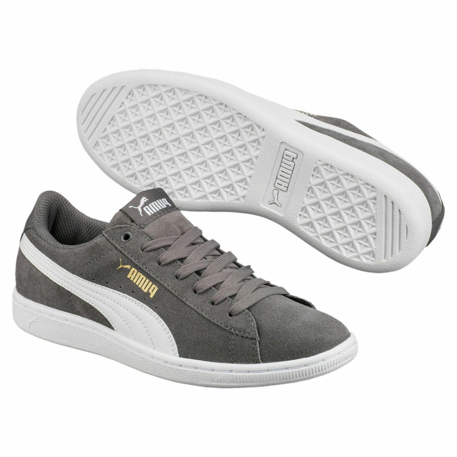 NEW Puma Grey Classic Low-Top SIZE