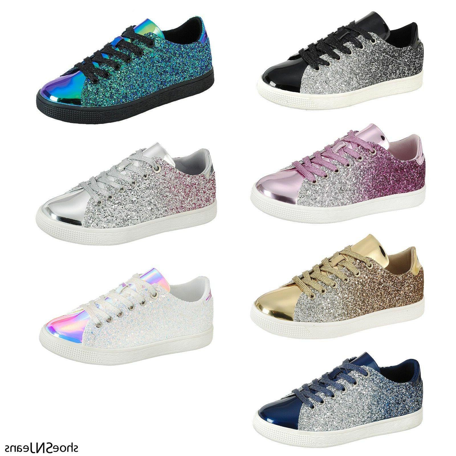 new women sequin glitter sneakers athletic tennis