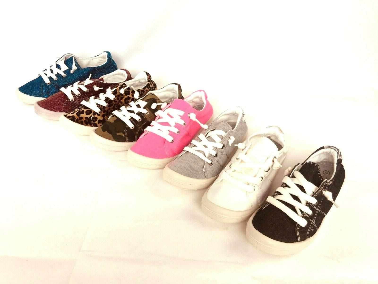 New Women Canvas Shoes Casual Comfy Slip-On Sneakers tennis