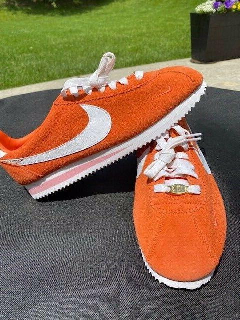 NWOB Nike Classic Orange Suede Limited White tennis Rare!