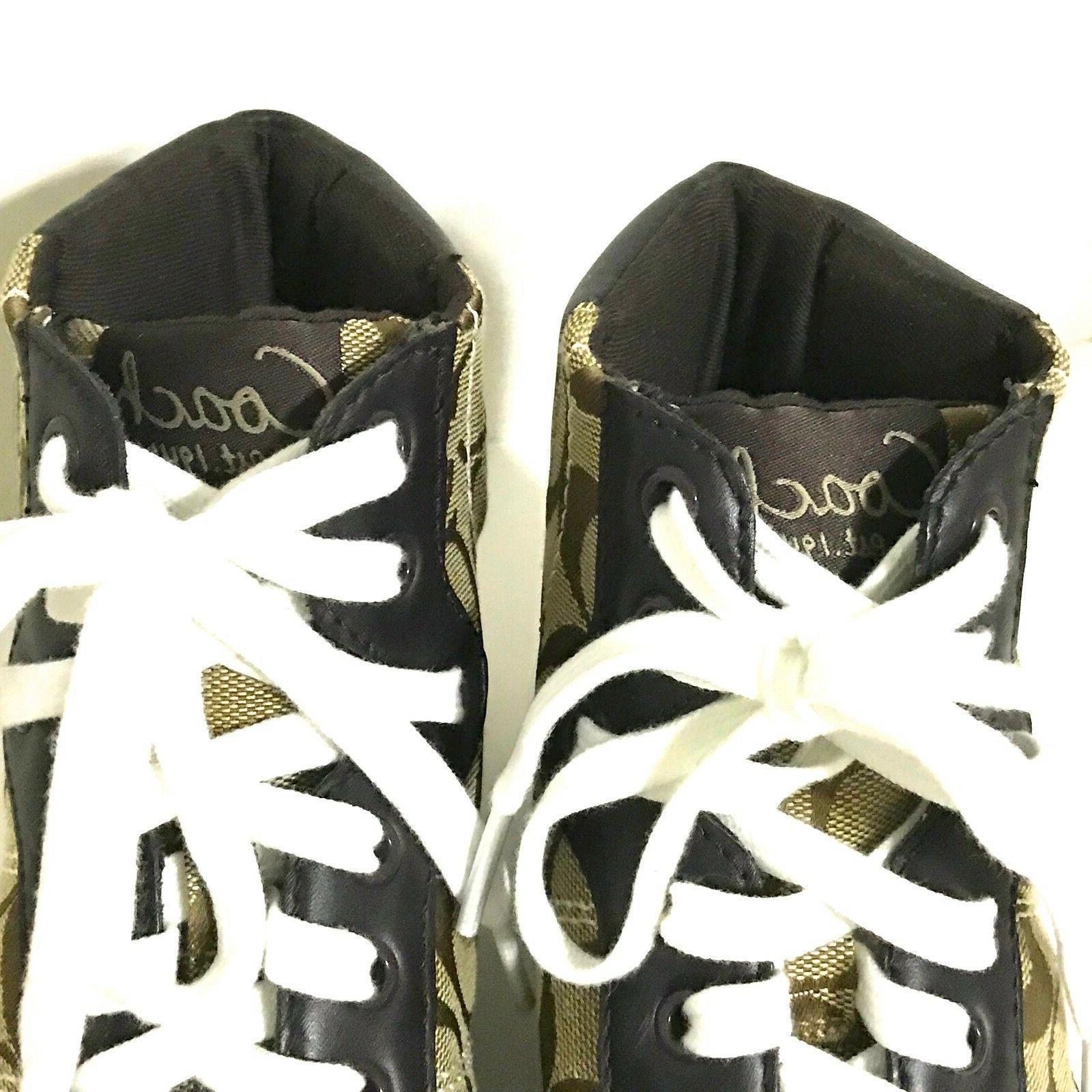 NWOB Coach High Tops Shoes Brown/Tan /