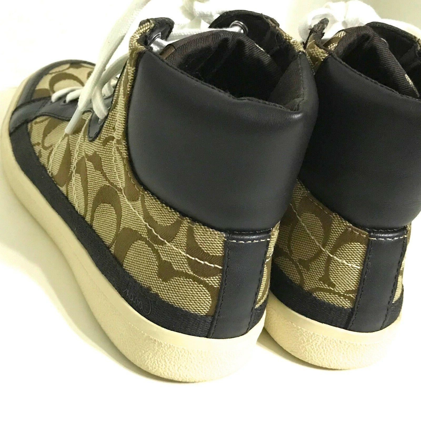 NWOB Coach Tops Shoes Brown/Tan WORN / NEW!!