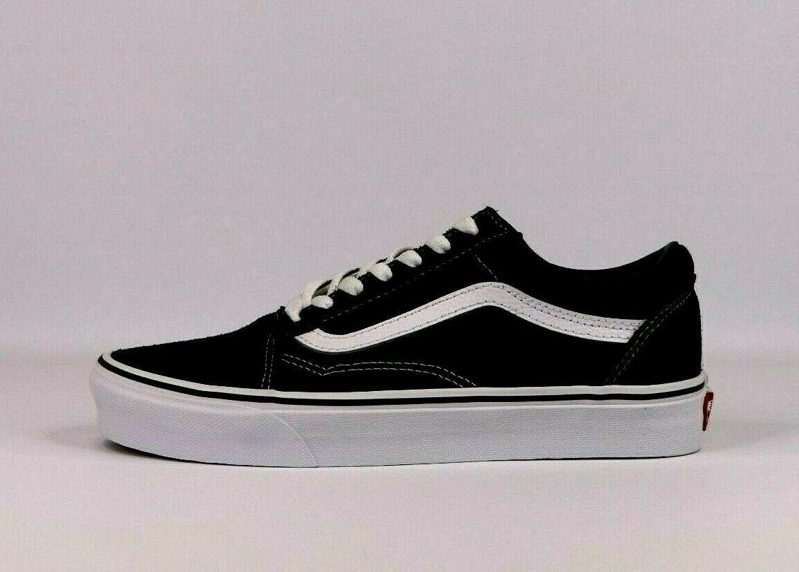 Vans Old Skool Classic Black White / Navy Womens