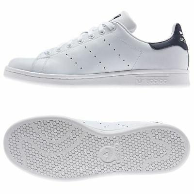 adidas ORIGINALS STAN SMITH TRINERS WHITE NAVY TENNIS MEN'S