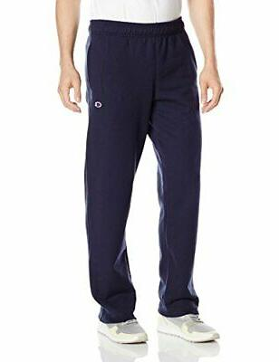 Champion Men's Powerblend Sweats Open Bottom Pants Navy S