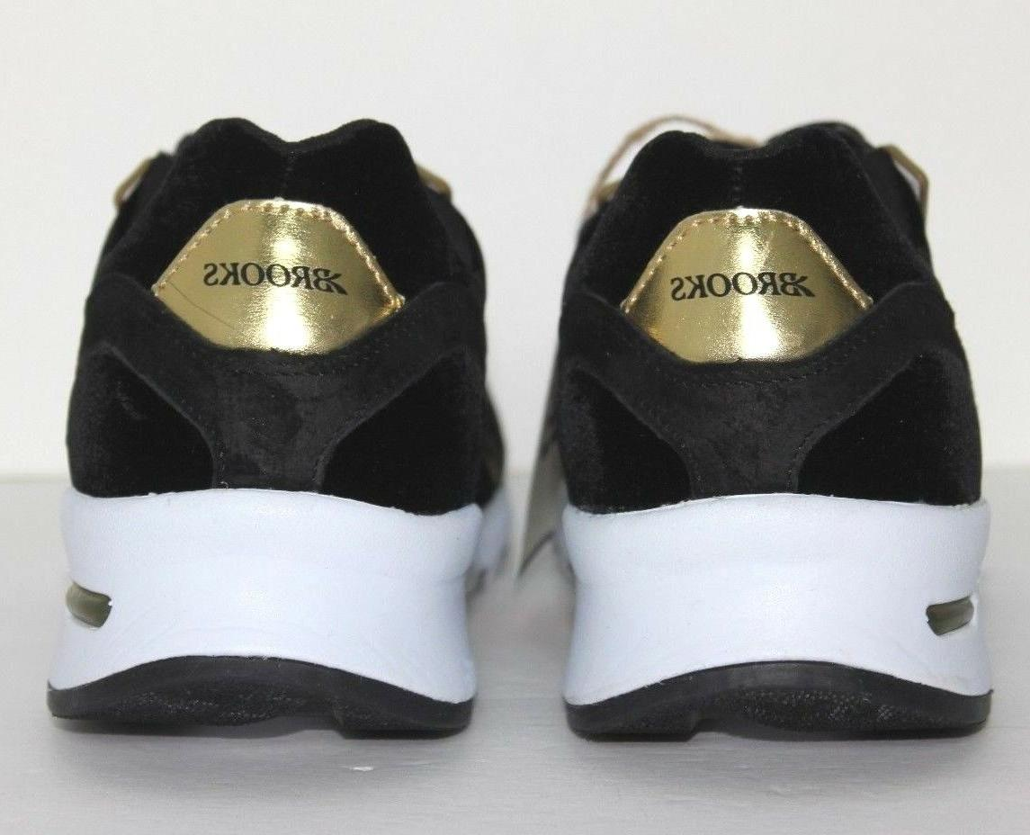 Brooks Retro Black Gold 10 Lace Running Shoes