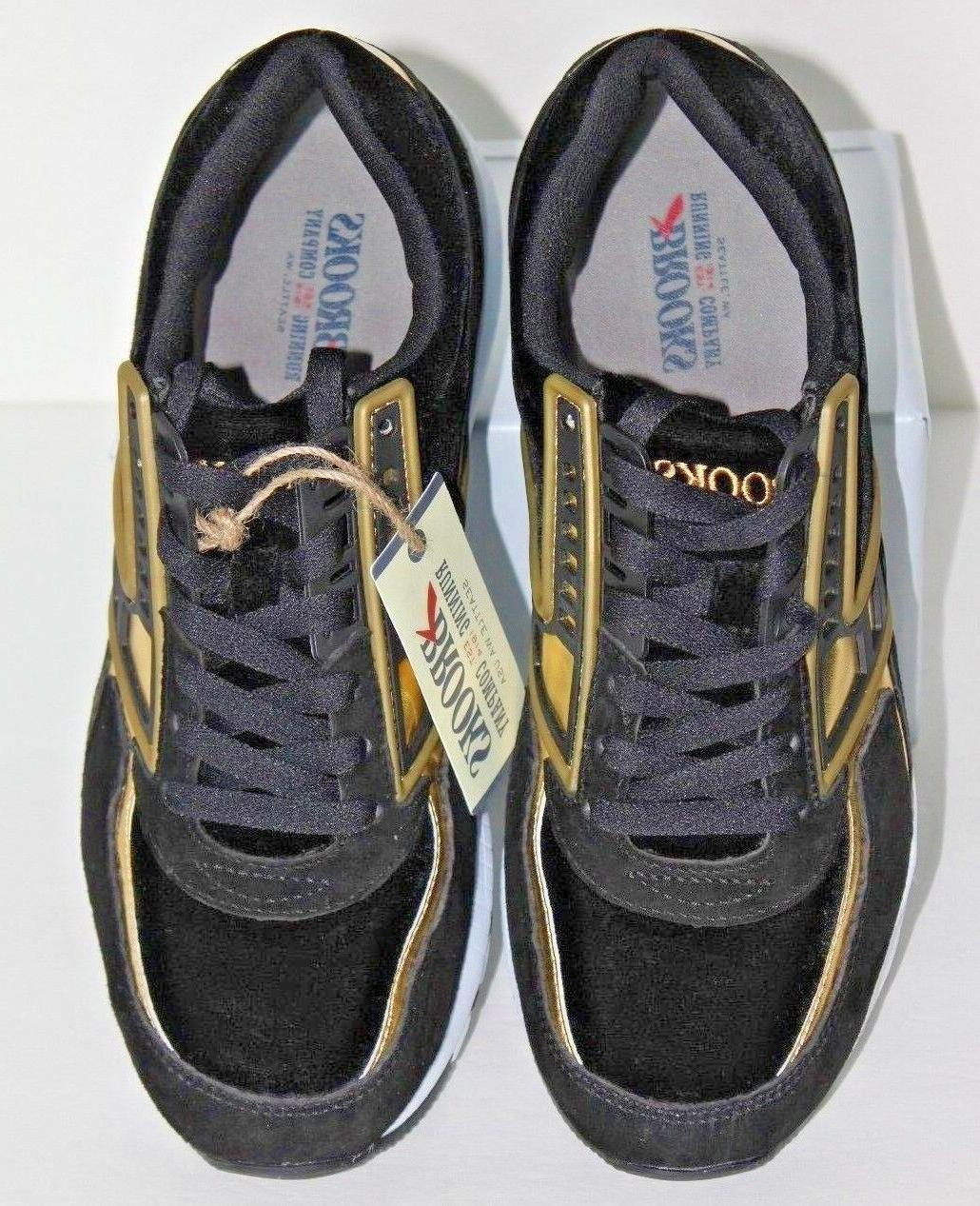 Brooks Heritage Regent Black Size 10 Lace Up Running Shoes
