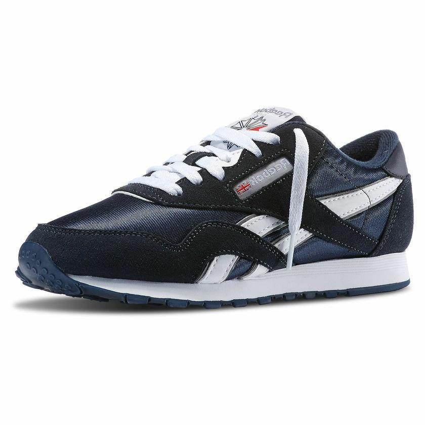 Reebok Royal Nylon 39749 Athletic Team Platinum Navy Blue Me