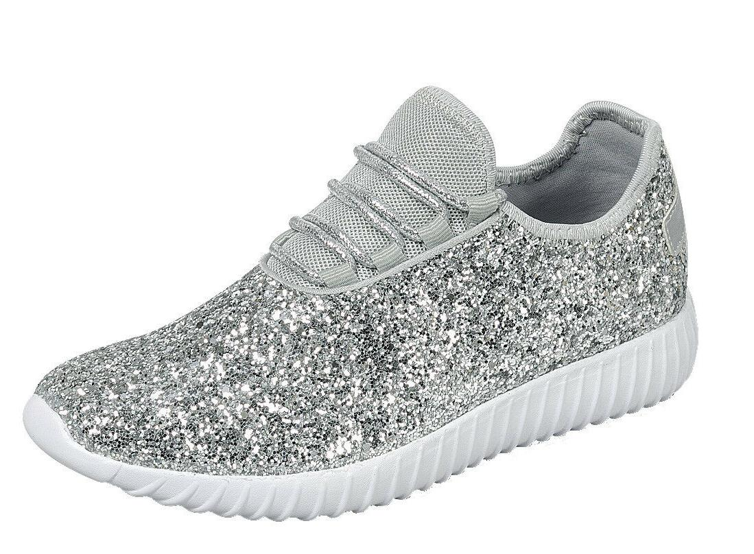 Size Glitter Sneaker Tennis Comfort Walking Shoes