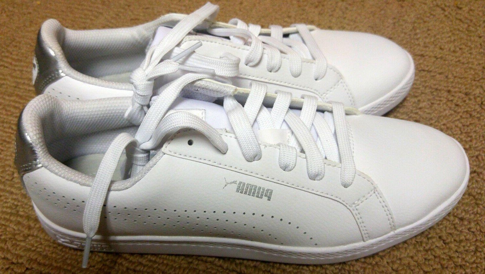 Puma Smash Perf Womens White Leather Sneaker Tennis Shoe No