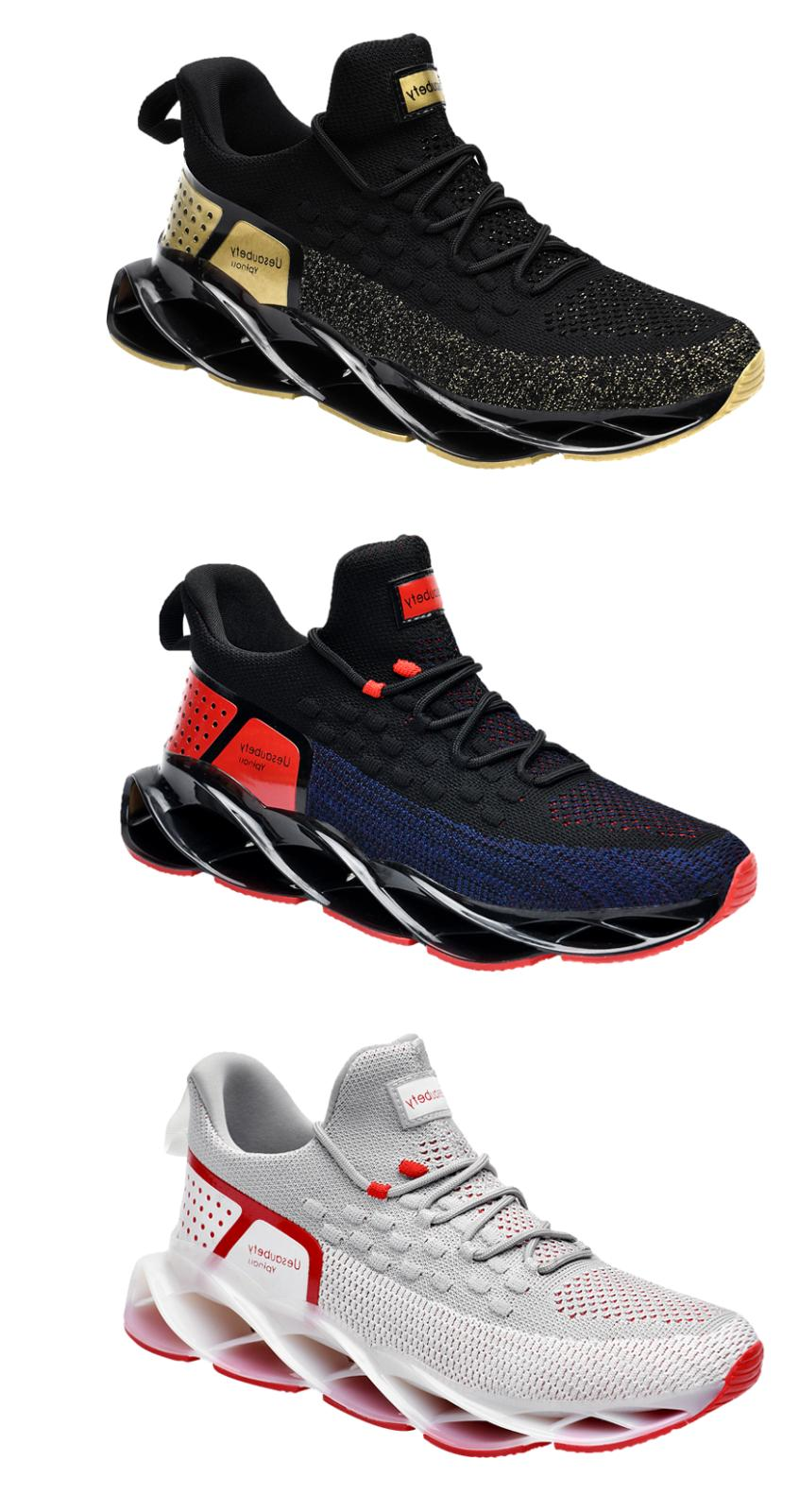 sport breathable fashion knit blade shoes casual