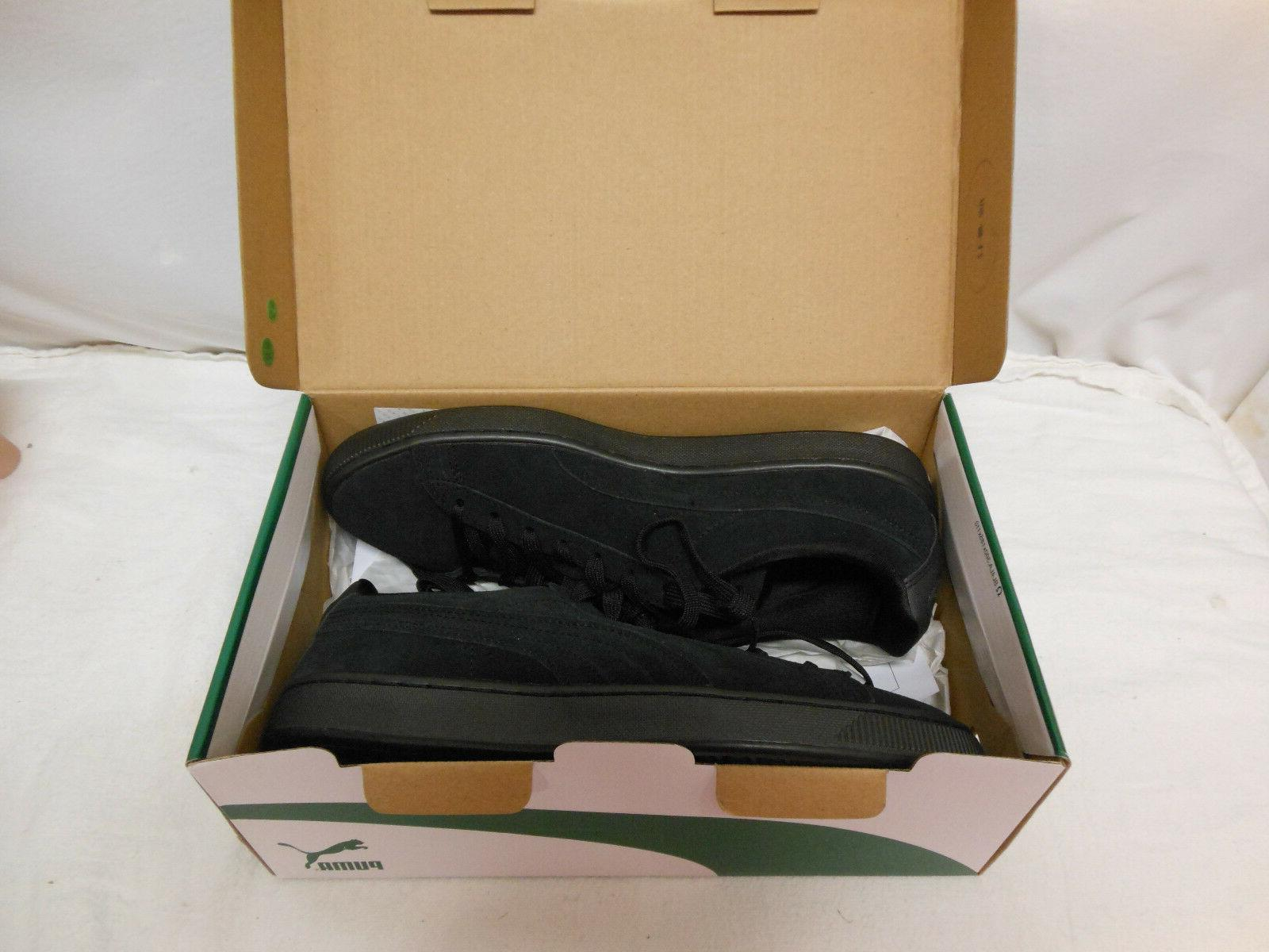 suede classic black anodized men s sneakers