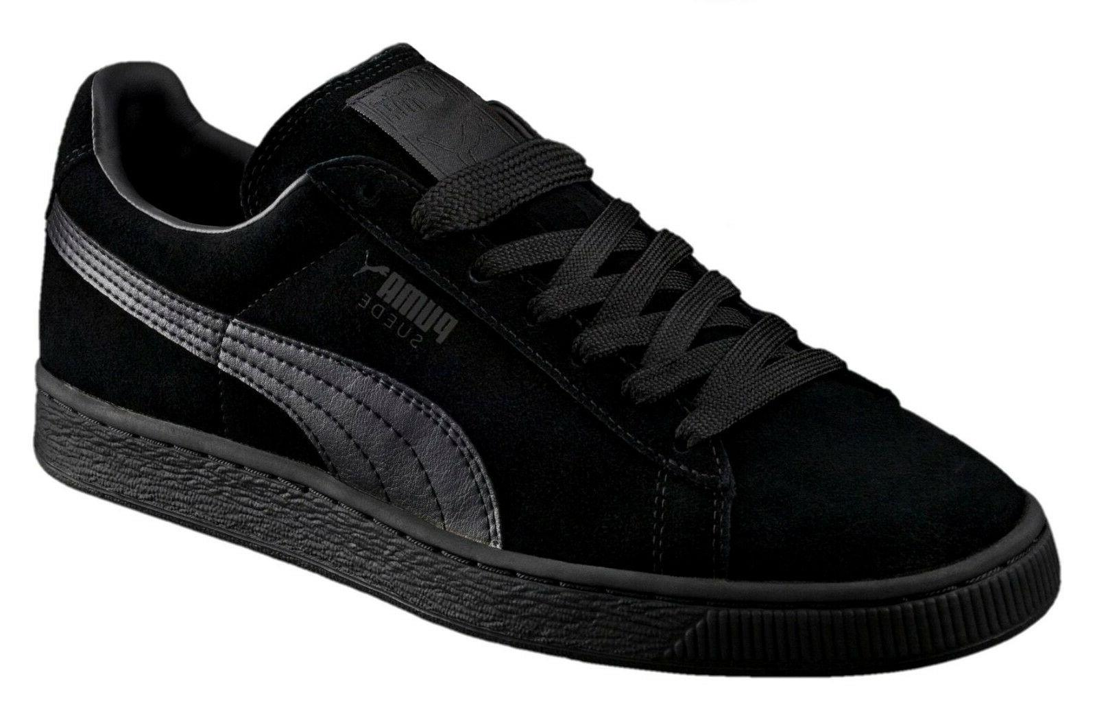 suede classic leather black black formstrip mens