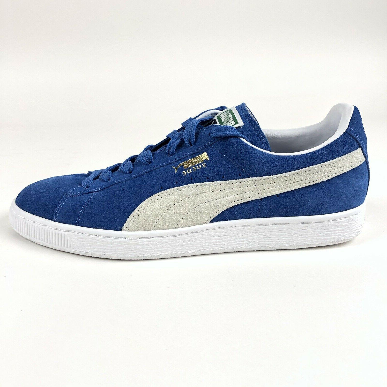 suede classic olympia blue low tennis shoes