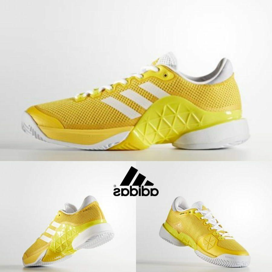 Adidas Tennis Barricade Shoes Yellow White BY1623 SZ 5-7