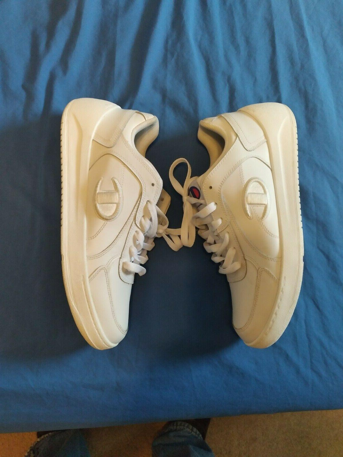 champion tennis shoes white size