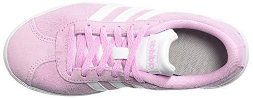 adidas Kids' VL Court 2.0 Ftwr Ftwr White, 3 US Kid