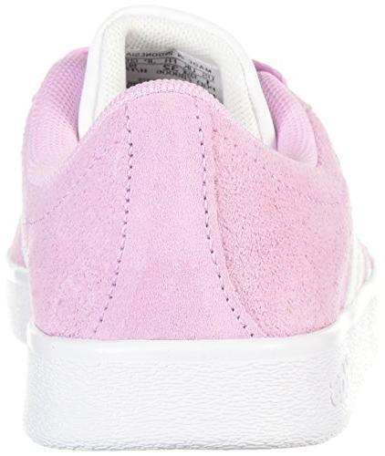 adidas Kids' VL Court 2.0 Sneaker, Frost Ftwr White, Ftwr White, 3 M Kid