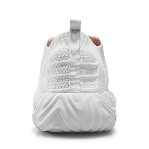 Feetmat Walking Tennis for Slip on Training Shoes White M US