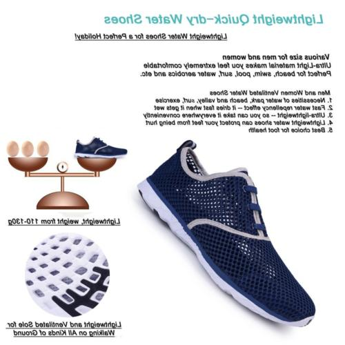 Water for Quick Drying Shoes Beach Pool Navy, 39