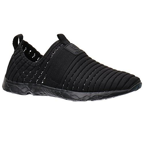 ALEADER Water Sport Shoes Women's Tennis Walking Shoes Black