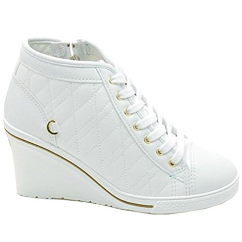 Epicsnob Shoes High Top Canvas Simple Lace Synthetic