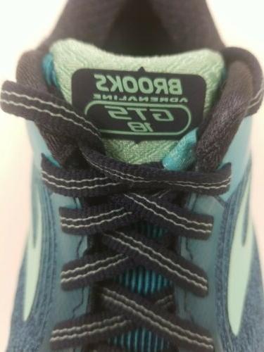 Brooks Women's Adrenaline Lace Up Shoes Blue #1202681B495 200D