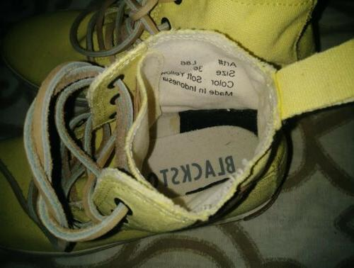 Blackstone Women's Top Tennis Shoes Yellow Size 36/6 86 Brand