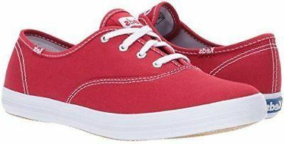 Keds Women's Champion Original Canvas Sneaker Red Lace Up Te