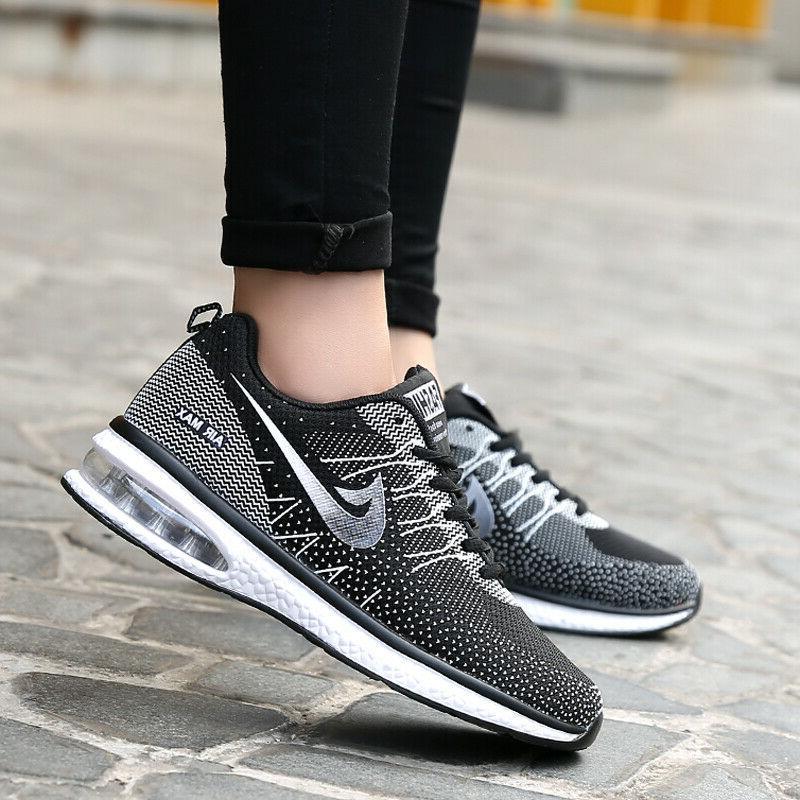Women's Tennis Shoes Flyknit Sneakers Air Running Sports
