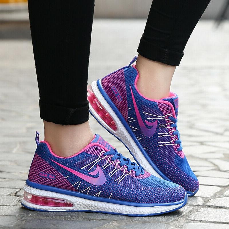 Women's Flyknit Sneakers Air Cushion Athletic Running Shoes
