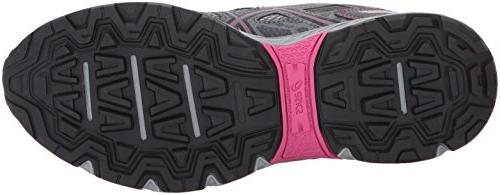ASICS Women's Running-Shoes,Carbon/Black/Pink Peacock,8 Medium US
