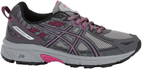 ASICS Gel-Venture 6 Running-Shoes,Carbon/Black/Pink Peacock,8 US
