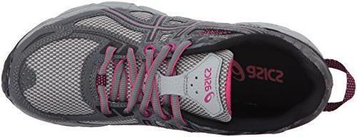 ASICS Women's Running-Shoes,Carbon/Black/Pink Peacock,8