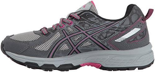 ASICS Running-Shoes,Carbon/Black/Pink Peacock,8 Medium