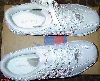 CHAMPION Women Shoes TENNIS Gym SZ 5-12 NEW Pink White LEATH